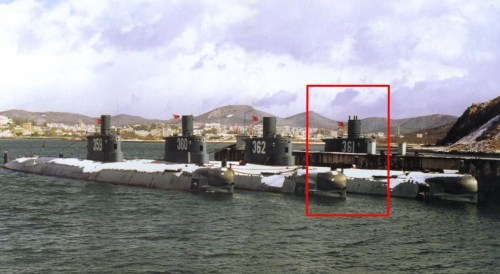 The actual submarine lost by the Chinese under mysterious circumstances.
