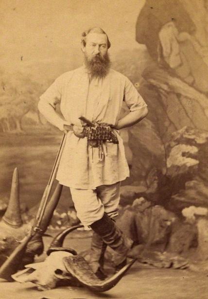 NPG x8353; Sir Samuel White Baker by Maull & Co