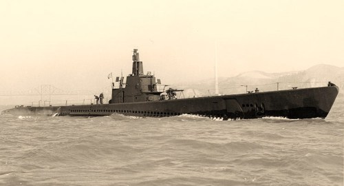 USS Sailfish (SS-192)Off the Mare Island Navy Yard, California, 13 April 1943. Photograph from the Bureau of Ships Collection in the U.S. National Archives.