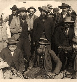 A company of Boer soldiers--prisoners of war in Simons Town, South Africa