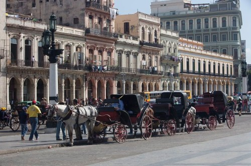 Scene on the Prado in Havana, Cuba
