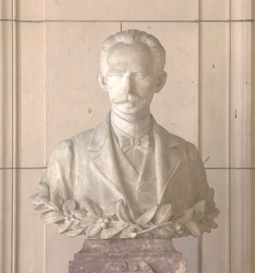 José Martí statue in located in the Capitol building in Havana, Cuba