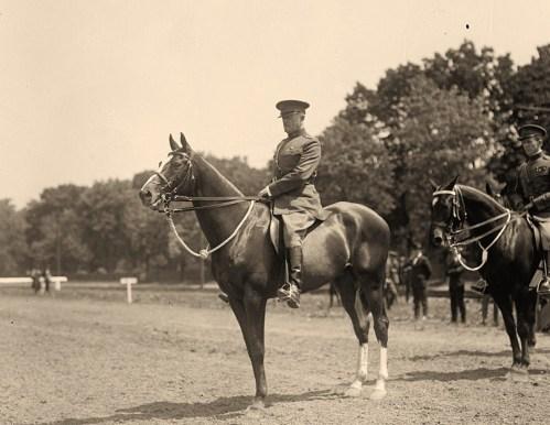 John J. Pershing on horse