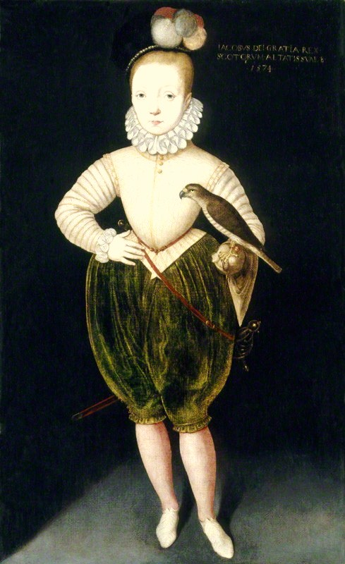 King James I of England and VI of Scotland attributed to Rowland Lockey, after  Arnold Bronckorst