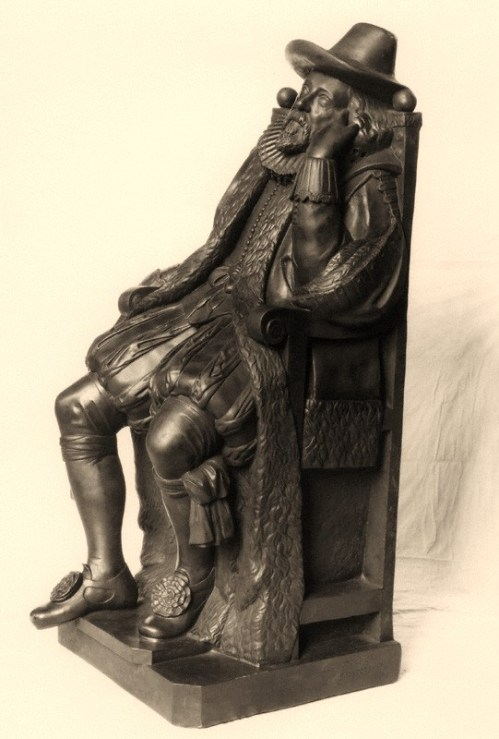 Francis Bacon, Viscount St Alban by Elkington & Co, cast by  Domenico Brucciani, after  Unknown artist
