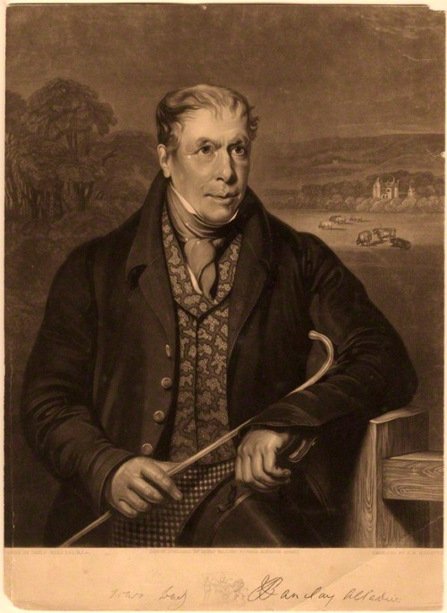 Robert Barclay Allardice by R.M. Hodgetts, after  James William Giles