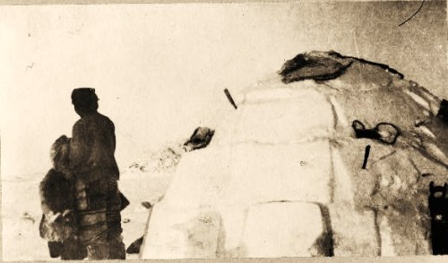 Igloo at a hunting camp