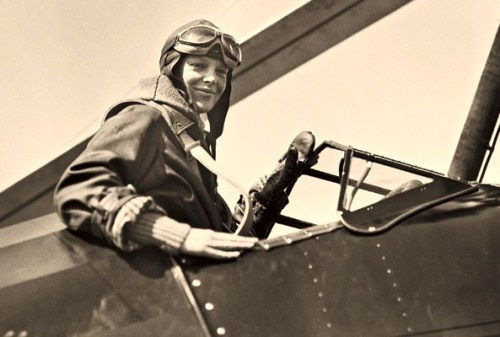 Amelia Earhart, a year before her 1932 solo flight across the Atlantic
