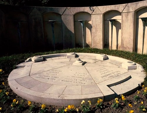 Howard Hughes's (and his family's) gravesite at Glenwood Cemetery, Houston, Texas