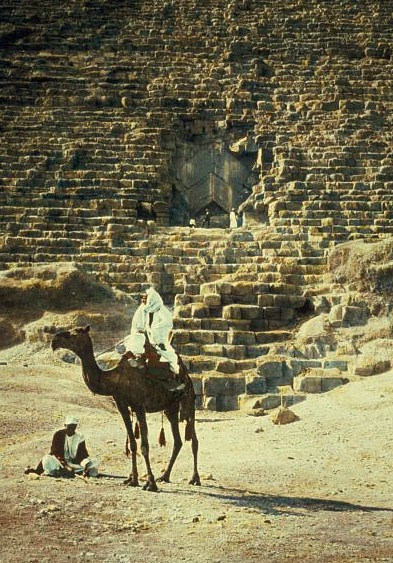 Egypt. Pyramids. Entrance to the  Great Pyramid of Cheops