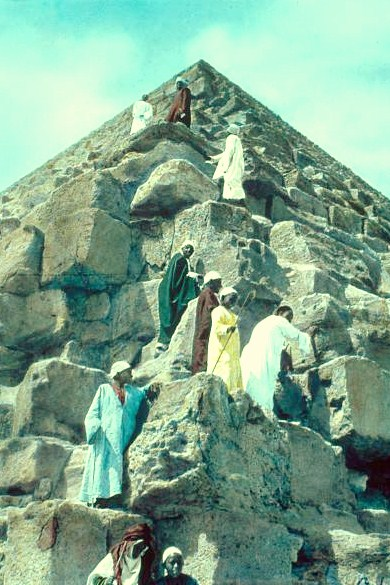 Egypt. Pyramids. Ascent of the Great Pyramid