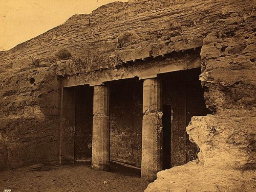 Egypt - Beni Hassan - Entrance to  Painted Tombs