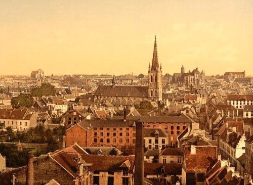 Louvain - General view between 1890-1900
