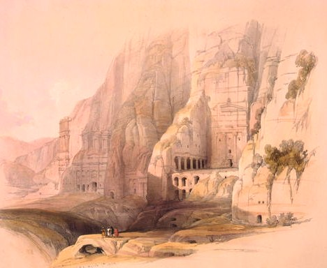 Excavated mansions of Petra, Petra, March 7, 1839