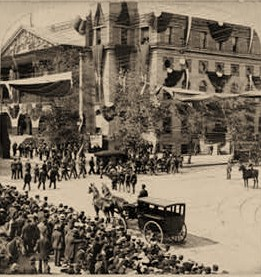 The Arrival of William McKinley's remains at the courthouse, Sept. 18, 1901, Canton, Ohio
