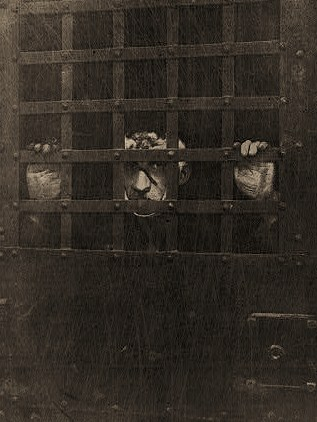 Reproduction of first photograph of Leon F. Czolgosz, the assassin of President William McKinley, in jail.