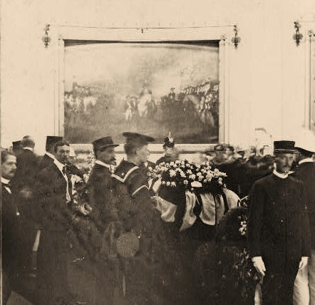 State funeral of President McKinley. The body lying in State Rotunda of the Capitol