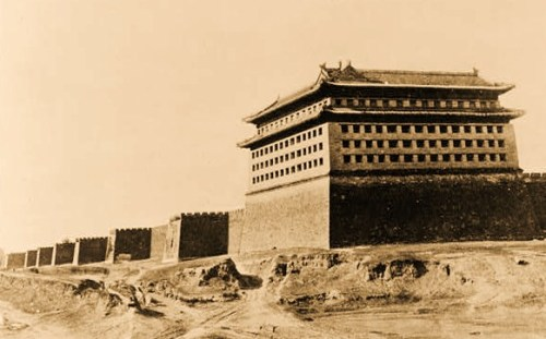 Chinese Wall, Pekink, China - the Great Wall, Peking - Rebels have passed another part of the wall and are marching on Peking  [between ca. 1908 and 1926]