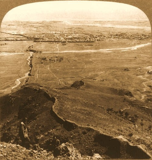Shan-hai-kwan, eastern end of China's Great Wall - south from Liao Hsi Mts., to Pe-Chi-li Gulf 1904