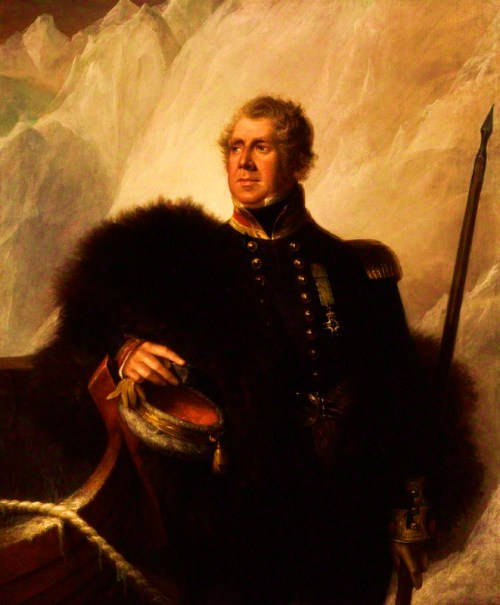 Ross became an Arctic explorer after distinguished naval service in the Napoleonic Wars. In 1818, he made his first voyage in search of the Northwest Passage to China. Deciding the route was blocked by mountains, Ross's reputation suffered when it was later shown that the mountains were an optical illusion. Ross rebounded by attracting funding, from the gin distiller Felix Booth, to command the first steam ship into the Arctic on another voyage to locate the Northwest Passage (1829-33).