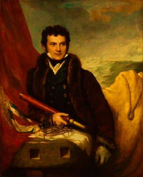 Entered the Navy at the age of thirteen, and served in the North Sea and the Baltic. In 1818, he commanded a brig on an Arctic expedition and the following year he was appointed to command another expedition to search for a North-West Passage to the Pacific. The trip was successful and returned with much scientific material. Parry's care for his men, his solution of many of the problems of wintering in the ice, and his meticulous scientific work set a pattern of Arctic exploration for a generation. He subsequently made several more expeditions to the Arctic, culminating in an attempt on the North Pole from the northern shores of Spitzbergen. The furthest north that he reached stood as a record for nearly fifty years.