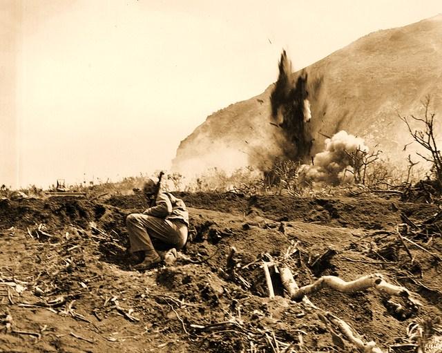 iwo jima red blood black sand essay Red blood, black sand: fighting alongside john basilone from boot camp to iwo jima.