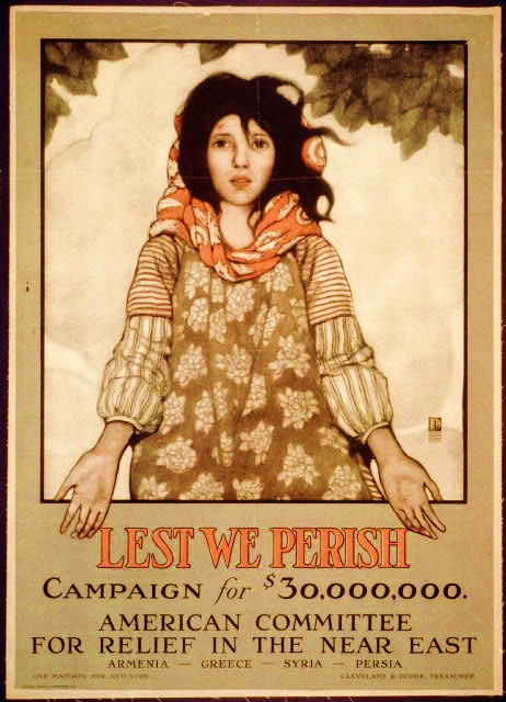 Lest we perish Campaign for $30,000,000 ; American Committee for Relief in the Near East ; Armenia - Greece - Syria - Persia ; One Madison Ave., New York, Cleveland H. Dodge, Treasurer.