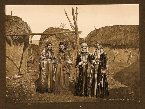 Russian types of Tartar, (i.e., Tatar), women of the Caucasus, Russia
