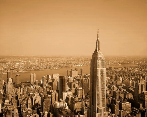 Empire State Building view of New York City.