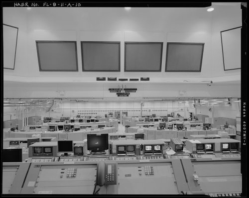 VIEW OF FIRING ROOM NO. 3, FACING SOUTHWEST - Cape Canaveral Air Force Station, Launch Complex 39, Launch Control Center, LCC Road, East of Kennedy Parkway North , Cape Canaveral, Brevard County, FL
