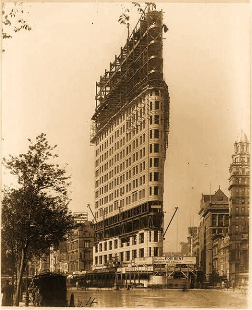 Flatiron building under construction, New York City