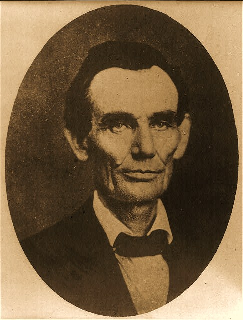 Abraham Lincoln while a traveling lawyer, taken in Danville, Illinois