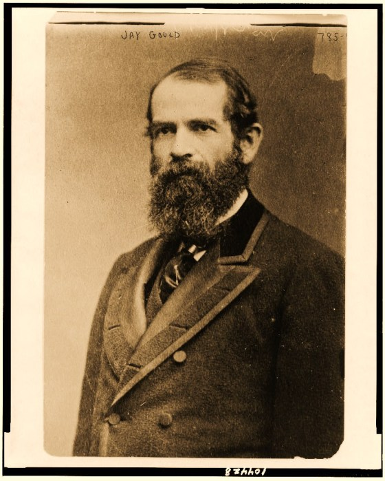 Jay Gould, half-length portrait, facing left