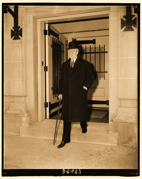 Chief Justice Charles Evans Hughes (77 yrs. old) marking 10 yrs. of service. Appointed by Pres. Hoover Feb. 24, 1930. Feb. 24, 1940