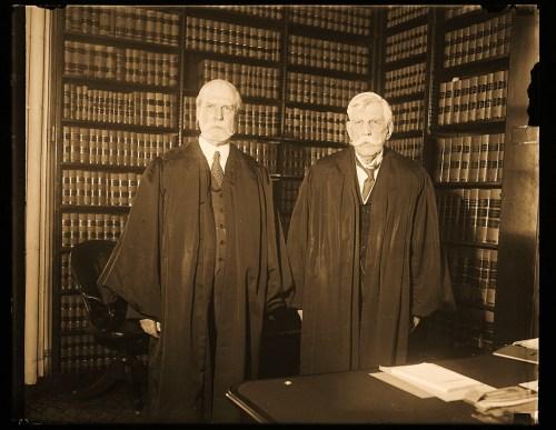 Charles Evans Hughes and Oliver Wendell Holmes, Jr.