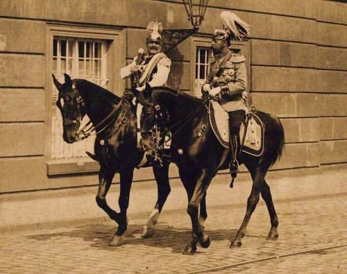 Wilhelm II, Emperor of Germany and King of Prussia; King George V, 1913.